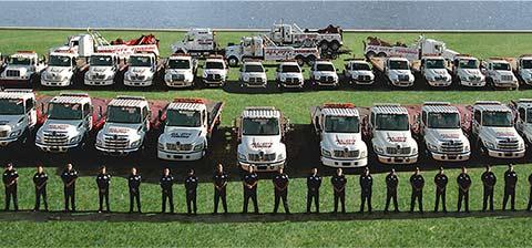 All City Towing heavy duty tow truck fleet in Arizona.