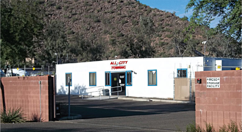Phoenix Storage N. Location view from the street